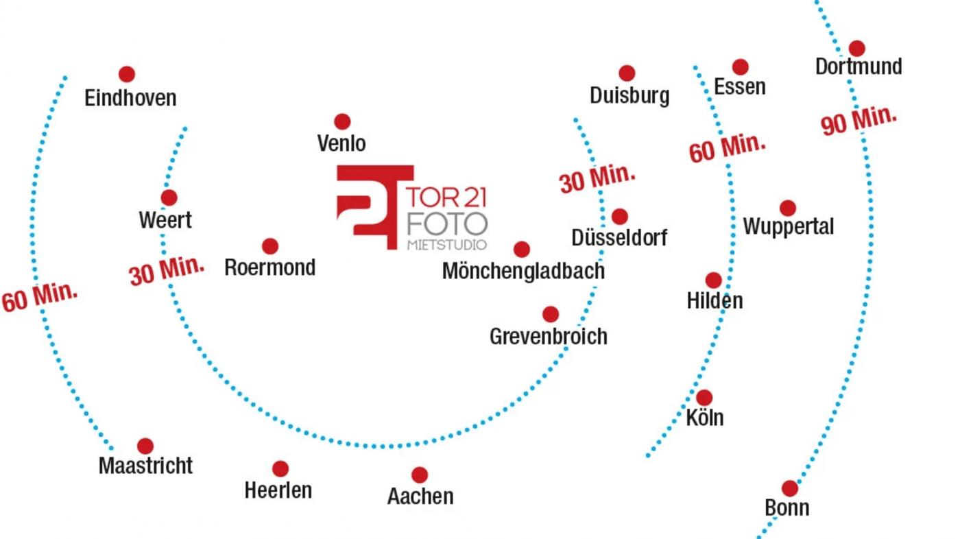 Tor 21 in der Nähe von Mönchengladbach, Roermond, Venlo, Düsseldorf und Duisburg